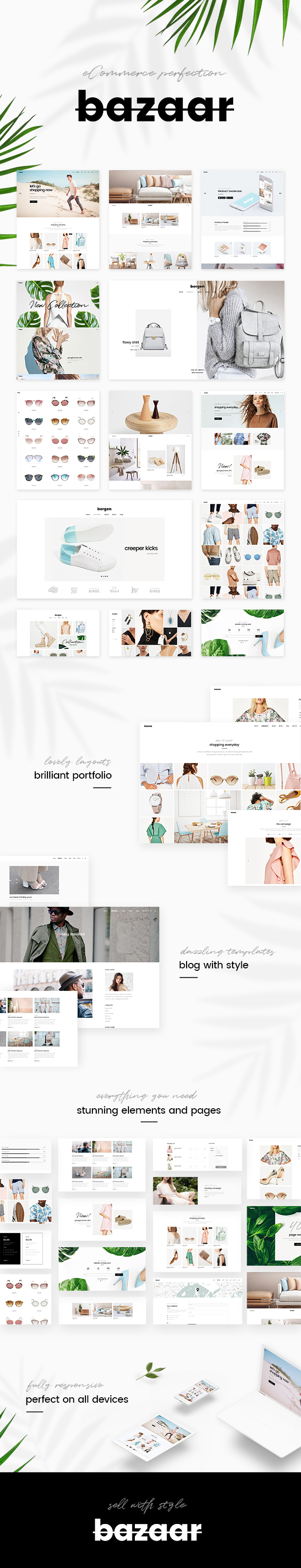 WordPress theme Bazaar - A Modern, Sharp eCommerce Theme (WooCommerce)